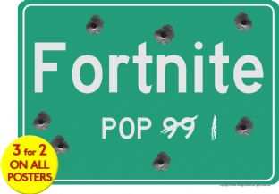 FORTNITE - US Road Sign Print